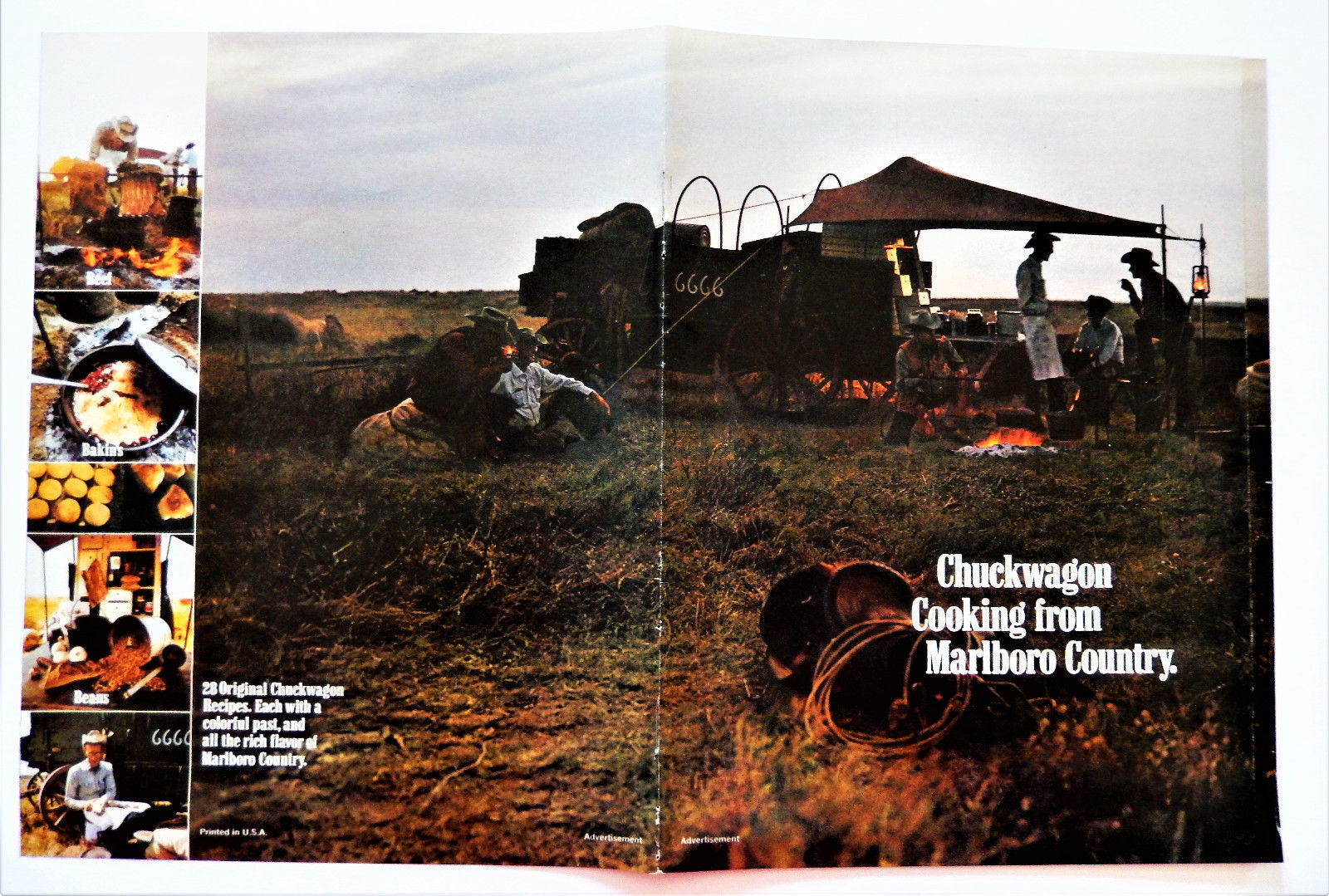 Primary image for Vintage 1971 Marlboro Country Chuckwagon cooking cookbbook recipe booklet