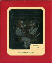 1992 Carlton Cards Heirloom Collection Ornament - Holiday Helpers - 1204... - $4.89
