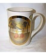The Art Of Chokin Japan HAWAII / Pair Hawaiian Girls Cup Mug 24K Gold Rim Hula - $15.00