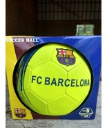 F.C Barcelona Home Official Licensed Soccer Ball, New Messi 10 Neon Gree... - $24.97
