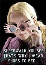 "Harry Potter Luna Lovegood ""I Sleepwalk"" Photo Image Refrigerator Magnet, NEW - $3.99"