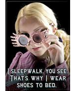 "Harry Potter Luna Lovegood ""I Sleepwalk"" Photo Image Refrigerator Magnet... - $3.99"