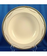 "Mikasa Laurent Rimmed Vegetable Pasta Serving Bowl Ivory Green and Gold 10"" - $27.72"