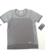 Nike Women Infinite Short Sleeve Running Top - AT0578 - Gray 082 - Size ... - $34.99