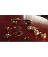Vintage Clip Earrings - 3 Pairs  Lot #10 - $14.85