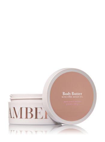 Bath & Body Works AMBER & ARGAN Body Butter 6.5 oz / 185 g