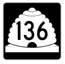 Utah State Highway 136 Sticker Decal R5458 Highway Route Sign - $1.45+