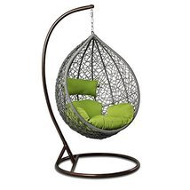Island Gale Outdoor Brown Wicker Rattan Hanging Swing Egg Chair Hammock ... - $499.98