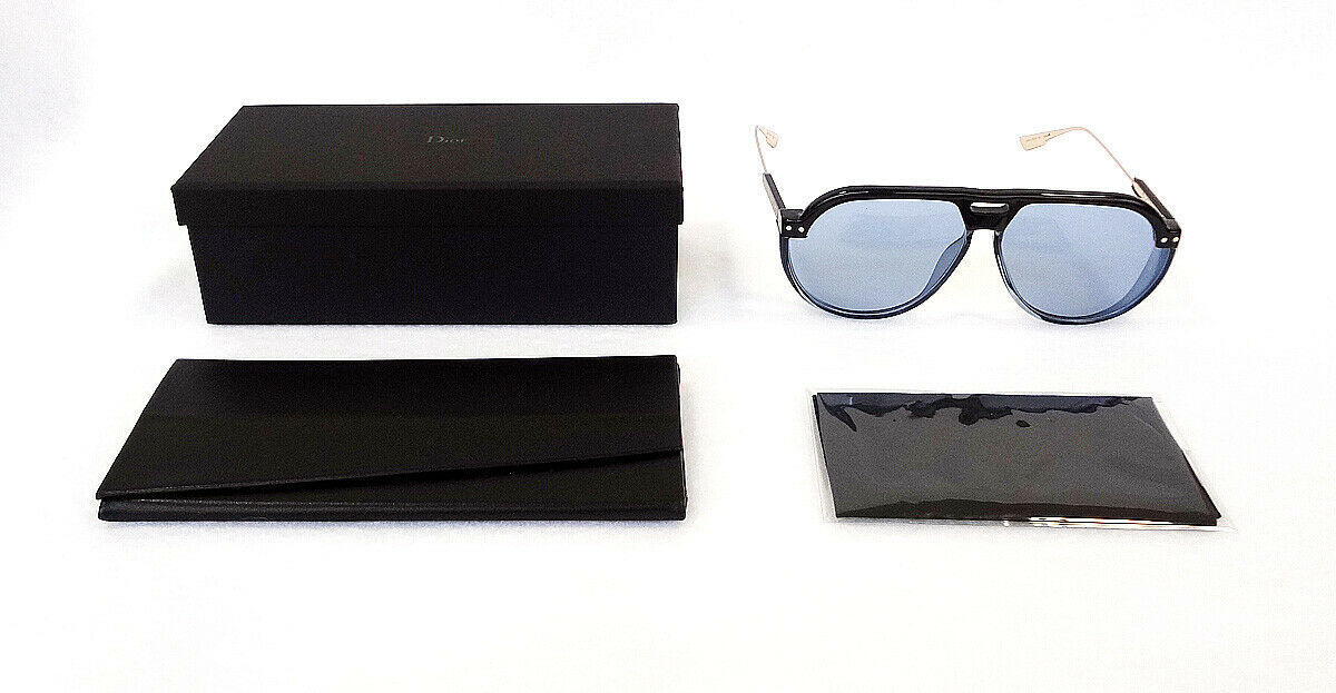 Dior Women's Sunglasses DIORCLUB3 D51 Black/Blue 61-12-145 MADE IN ITALY - New!