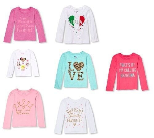 The Childrens Place Infant / Toddler Girls Long Sleeve Shirts Various Sizes NWT - $11.99
