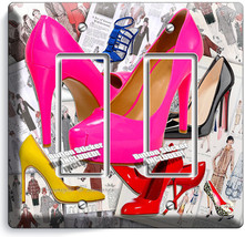 Hot Pink High Heel Sexy Shoes Double Gfci Light Switch Plate Boutique Room Decor - $10.79