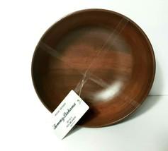 Tommy Bahama Set of 4 Dark Wood Black Bowls Salad Ceral Bowls MELAMINE New - $29.02