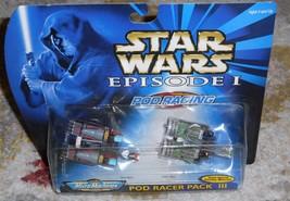 STAR WARS MICRO MACHINES Pod Racer Pack III Movie Episode 1 Racers Micro... - $8.79