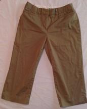Womens LIZ CLAIBORNE SLOANE PANTS Size 4 Green Khaki Ladies Bottoms Pockets - $10.97