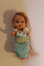 RARE Barbie Krissy Infant Baby Doll Long Red Head dressed for doll house... - $24.95