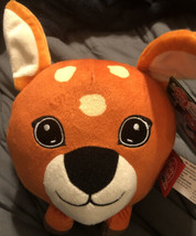 "NWT PlayTive Junior Round Deer Head Plush Toy 7"" Diameter - $9.89"