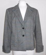 Kasper 12 Petite Gray Black Herringbone 5% Wool... - $23.38