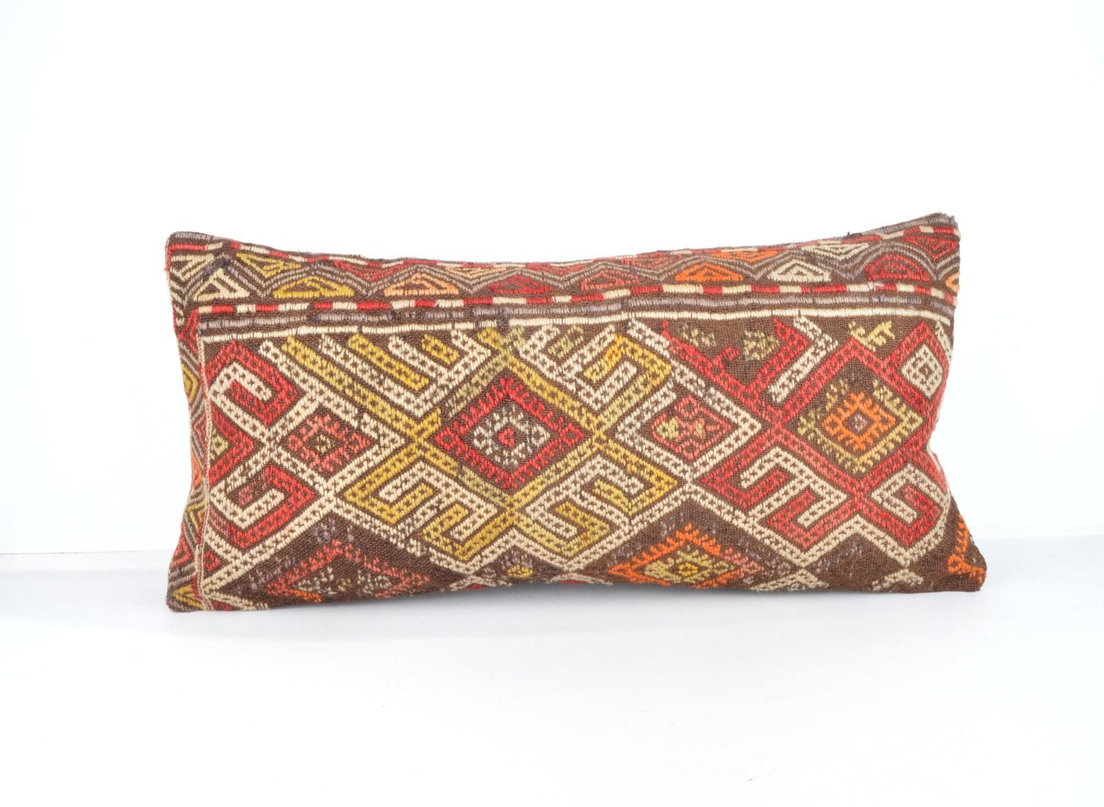 similar kilim pillow lumbar kilim cushion lumbar  pillows size 12x24 inch