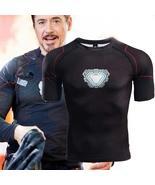 Infinity War Iron Man T Shirt Cosplay 3D Printed T Shirts Tony Stark Men... - $16.42