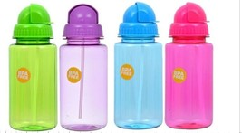 2ct KIDS water bottles with straw BPA FREE PERFECT for summer / PARTY FA... - $10.40
