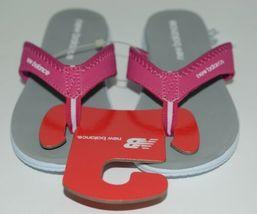 New Balance W6021WPK Womens Jojo Thong Pink White Gray Size 6 image 3