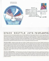 STS-79 ATLANTIS KENNEDY SPACE CENTER, FL SEPT 16 1996 WITH INSERT CARD - $1.98