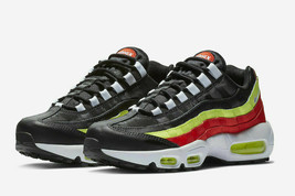 NIKE Air Max 95 Women's Shoes Black White Habanero Red Volt 307960 019 s... - $79.97