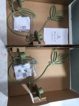 2 PARTYLITE Herbal Spring Wall Sconces #P8462 Candle Holder Green NIB F/S - $32.62