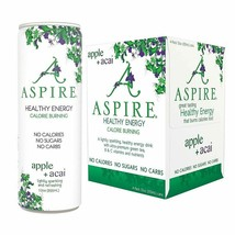 Aspire Healthy Energy Drink Apple Acai 12 oz Cans (Pack Of 4) - $20.74