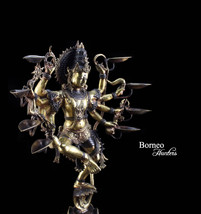 "8 Armed Kaliya Krishna 25"" Statue With Bowl Lamp Arch The Eight Avatar O... - $748.00"