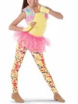 Weissman DO YOUR THING Sequin Tutu Unitard Bodysuit Rainbow 8728 Size LC... - $14.34