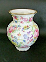 1950s Thomas/Rosenthal Germany Floral Vase Gold Edge - $23.99