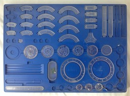 Vintage 1969 Kenner Spirograph #2400 Blue Tray Partial Set Replacement 3... - $19.95