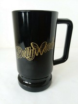 Black Gold Tone Dollywood Advertising  Mug Cup 12ozs - $11.08
