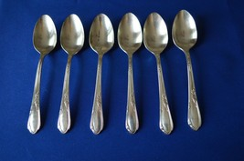 Wm A Rogers Oneida Meadowbrook Aka Heather 1936 Set of 6 Teaspoons - $17.82