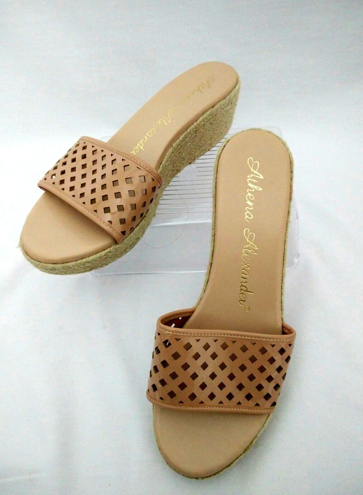 529288f39 S l1600. S l1600. Previous. Athena Alexander Womens 10 Beige Platform Wedge  Sandals Slide Slippers