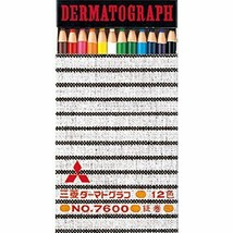 Mitsubishi Pencil DERMATOGRAPH 7600 12 color set K760012C JAPAN - $15.04