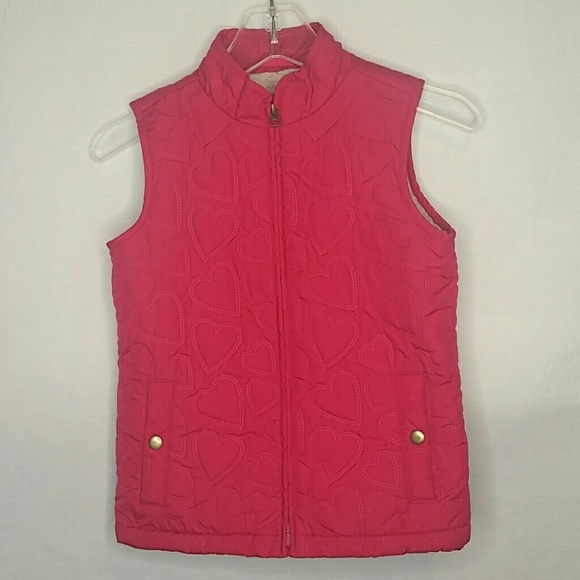 Primary image for Gap Kids Pink Heart Quilted Vest Size L