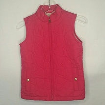 Gap Kids Pink Heart Quilted Vest Size L - $22.00
