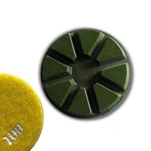 "3"" (80mm) Grit 100, Pie Polishing Pad, Dry Use, Hook and Loop Back - $18.02"