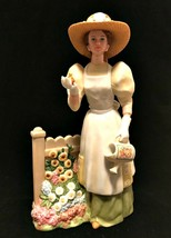 Avon Presidents Club Figurine Mrs. Albee Tending Her Garden 2008 Porcelain  - $27.72