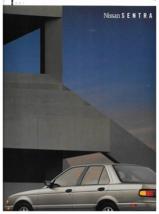 1991 Nissan SENTRA sales brochure catalog 2nd Edition US 91 XE GXE SE SE-R - $9.00