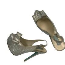 Betsey Johnson Platform Jeweled High Heels / Designer  Stiletto Bow Heels 9 - $119.00