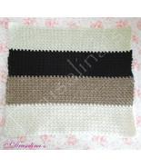 Cat Bed Crochet Crate LG Mat Dog Pet Acrylic Brown Beige Washable - $9.99