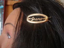 Vintage Gold tone Barrette Irene Hair accessory - $9.95