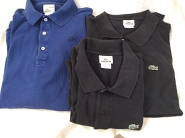 Men Lacoste Polo. Select One From Three Available. Vintage Wash or Black Color. - $10.50