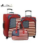 Montana West American Pride Flag Stars 3 PC Luggage Set suitcases & satc... - $269.99