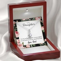 Daughter Gift Dad's Magical and Miracle Daughter Eternity Ribbon Stone Pendant 1 - $52.20+