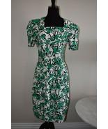 Vintage David Warren Abstract Floral 100% Cotton Dress Size 10 - $35.75