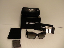 Chanel New Sunglasses Style 5227-H, square black frame gray lenses new  - $262.30